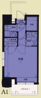 エステートモア平尾パージュ - 所在階 の間取り図