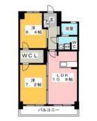 ウィル・ブ - 所在階 の間取り図