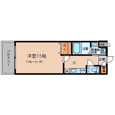 DSグランシティ博多駅前304号室-間取り