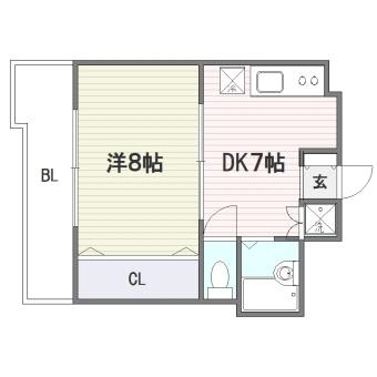 セントラルコート博多駅東303号室-間取り