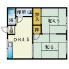 相生ハイツ - 所在階 の間取り図