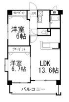 第3元木ビル - 所在階 の間取り図