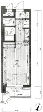 ライオンズマンション南福岡中央 - 所在階 の間取り図