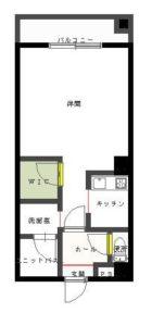 シティハイム南福岡 - 所在階 の間取り図