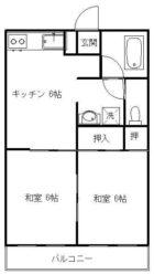 コーポ日下部 - 所在階 の間取り図