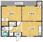 東雲コーポ - 所在階 の間取り図