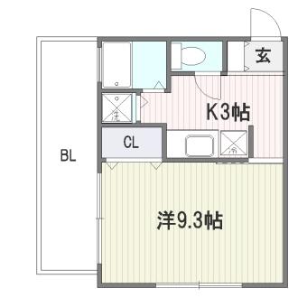 ソシア博多403号室-間取り