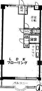スワンマンション空港南 - 所在階 の間取り図