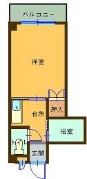 ヴィラージュ春吉II - 所在階5階の間取り図 3352