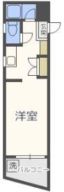 エレガンスハイツ平尾 - 所在階 の間取り図