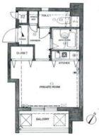 ロマネスク平尾第3 - 所在階3階の間取り図 3366