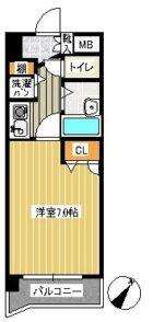 ライオンズマンション平尾第2 - 所在階 の間取り図