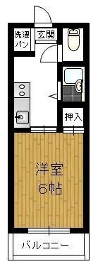 中隈ビル - 所在階 の間取り図