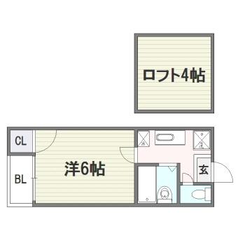 ソネット博多206号室-間取り