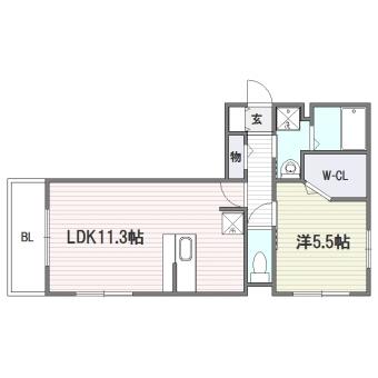 ソフィーユ・メゾン南福岡301号室-間取り