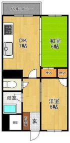 福南ビル - 所在階 の間取り図