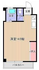 南田島ビル - 所在階 の間取り図