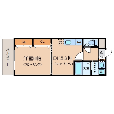 FTN空港前603号室-間取り
