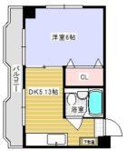 日伸ビル - 所在階 の間取り図