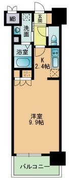 RJRプレシア南福岡 - 所在階 の間取り図