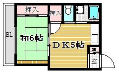 三角ビル4C号室-間取り