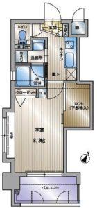 アクタス天神セントラルタワー - 所在階 の間取り図