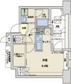 アクタス大手門II - 所在階 の間取り図