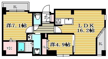 アルカス西公園103号室-間取り