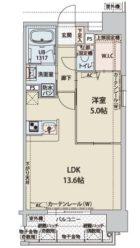 プレスタイル博多駅南II - 所在階 の間取り図