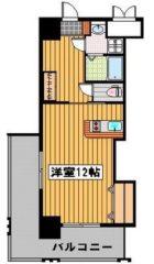 ロイヤル渡辺通II - 所在階3階の間取り図 4290