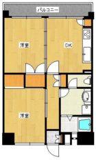 高倉マンション - 所在階 の間取り図