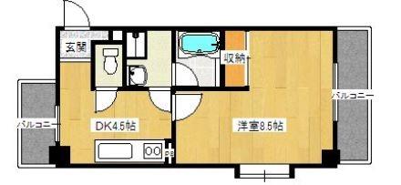 アヴェニール赤坂303号室-間取り