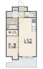 ルッシェ博多駅東 - 所在階 の間取り図