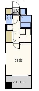 エンクレスト天神東II - 所在階 の間取り図
