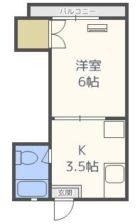 TENJIN ARK五番館 - 所在階 の間取り図