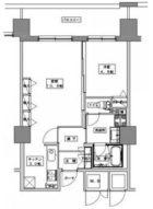 天神プレイスWEST棟 - 所在階 の間取り図