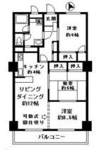大手門コーポ - 所在階 の間取り図