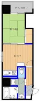 西田ビル - 所在階 の間取り図