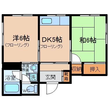 コーポ須崎201号室-間取り