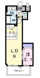 ラ メゾン ド ナチュ-ル - 所在階***階の間取り図 4825