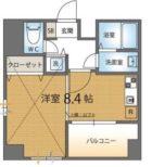 ゴールド大濠 - 所在階8階の間取り図 4953