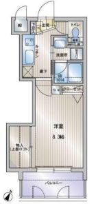 アクタス天神セントラルタワー - 所在階11階の間取り図 5011