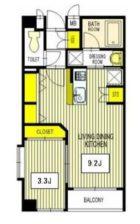 アルボラード博多 - 所在階3階の間取り図 5468