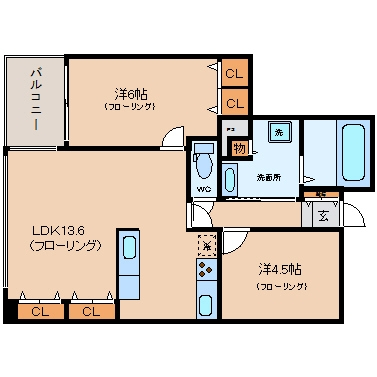 コスモ博多古門戸202号室-間取り