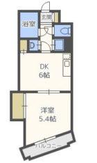 キトミ壱番館 - 所在階 の間取り図