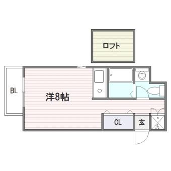 RJR博多駅東501号室-間取り