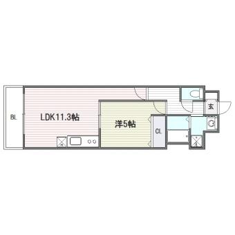 SDマンション博多駅南202号室-間取り