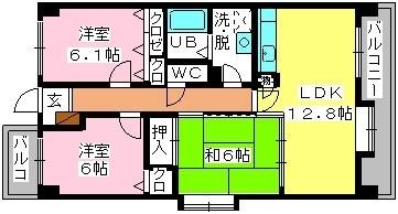 SOPHIA TOKUNAGA402号室-間取り