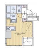 ラクレイス薬院 - 所在階4階の間取り図 5391