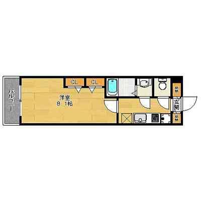 コンダクト博多駅南2丁目202号室-間取り